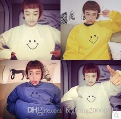 2017 Bf Carton Cute Smile Embroider Girl Boy Couples Men Women Hoodie Fleece Hot Fashional Warmer Thick Autumn Winter Different Sizes Black Gray From Bigbang20060817, $14.28   Dhgate.Com