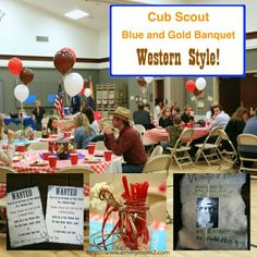 cub scout blue and gold banquet centerpieces | Cub Scout Blue and Gold Banquet Western Theme Party | Cub Scouts