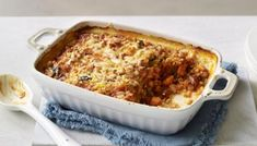 Cheesy bean and lentil bake recipe - BBC Food Chilli Recipes, Lentil Recipes, Veggie Recipes, Fall Recipes, Vegetarian Recipes, Vegetarian Dinners, Veggie Dishes, Veggie Bake, Vegetarian Options