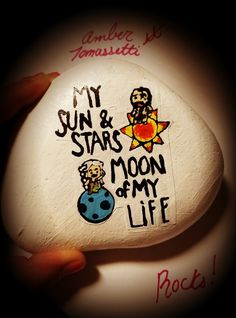 Game of Thrones my sun and stars painted Rock