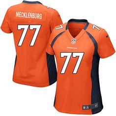 Women's Nike Denver Broncos #77 Karl Mecklenburg Limited Orange Team Color NFL Jersey Sale