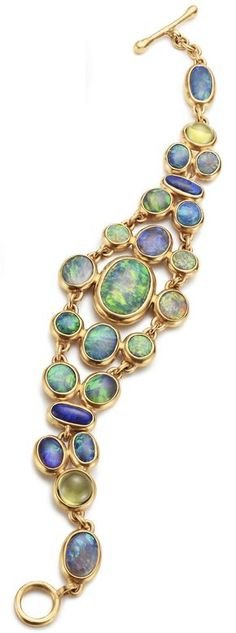 Louis Comfort Tiffany opal and 18K gold bracelet.