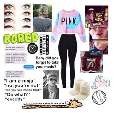 """""""Bored boo boo!!!!!!!❤️❤️❤️❤️❤️"""" by morganrichards ❤ liked on Polyvore featuring beauty, Chicnova Fashion, M&Co, CellPowerCases, Prada and Junk Food Clothing"""