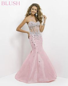 Blush Prom - 9713 at Estelle's Dressy Dresses! A strapless mermaid gown  #IPA prom