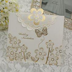 elegant bryllup invitasjon med Golden Rose - sett med 50 – NOK kr. 364