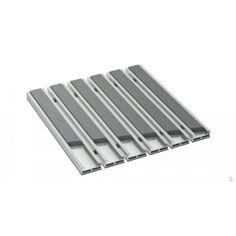 Wycieraczka aluminiowa BETA 12 mm ryfel guma ryflowany wsad gumowy Flatware, Tray, Metal, Cutlery Set, Dishes, Trays, Metals, Cutlery, Dinnerware