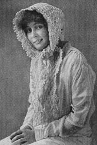 Nubia.     This free pattern originally published in the Woolco Knitting & Crocheting Manual, 1916