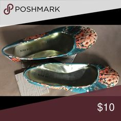 NINE WEST FLORAL FLATS NINE WEST FLORAL FLATS- worn once Nine West Shoes
