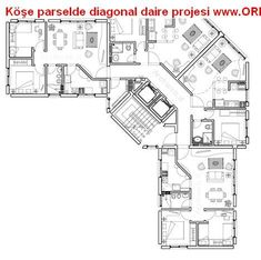 Köşe Parselde Diagonal Daire Projesi-Diagonal Apartment Project in Corner Plot You are in the right place about Residential Architecture drawings . Apartment Projects, Apartment Plans, Hotel Floor Plan, House Floor Plans, Residential Building Plan, Residential Complex, Architecture Résidentielle, Architecture Drawings, Architecture Portfolio