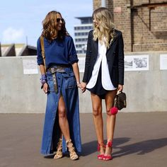 Thanks for the snap @streetstyleaustralia and thanks @tashsefton for being my partner in crime... Wearing #Bassike #louisvuitton #aquazzura #MBFWA
