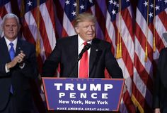 President-elect Donald Trump gives his acceptance speech during his election night rally, Wednesday, Nov. 9, 2016, in New York. (AP Photo/John Locher)  via @AOL_Lifestyle Read more: http://www.aol.com/article/news/2016/11/10/donald-trump-jr-s-name-floated-as-possible-cabinet-choice/21603019/?a_dgi=aolshare_pinterest#fullscreen