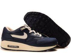 super popular d7bba eb983 New Mens Nike Air Max 1 309717-401 Premium Obsidian Bone Casual shoes Shop  Mens