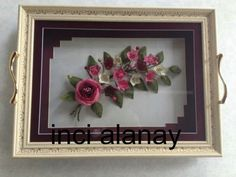 This Pin was discovered by Bah Bead Crochet, Mosaic, Projects To Try, Embroidery, Frame, Floral, Flowers, Lace, Paintings