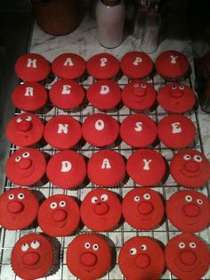 Comic Relief Red Nose Day cupcakes
