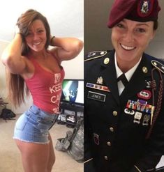 We find and share these 69 beautiful ARMY women with and without uniform in which all these are looking so powerful with stunning and attractive looks. Mädchen In Uniform, Look Plus Size, Military Girl, Female Soldier, Military Women, Girls Uniforms, Badass Women, Gi Joe, Women Hunting