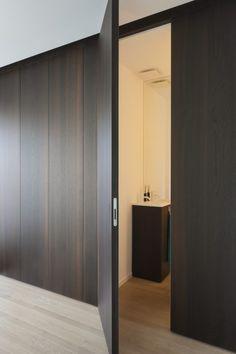 Door Design Interior, Contemporary Interior Design, Modern Bathroom Design, Hallway Storage Cabinet, The Home Edit, Built In Furniture, Hippie Home Decor, Apartment Interior, Interior Inspiration