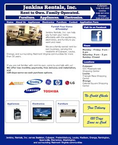 Jenkins Rentals, Inc. - your one-stop rent-to-own shop for affordable furniture, appliances and electronics.  Meadowbrook Shopping Center, Culpeper, VA.  http://www.jenkinsrentalsinc.com. (540) 825-0665