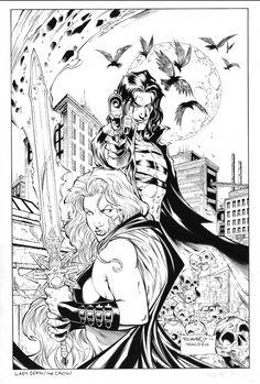 Lady Death and Crow-Romano Molenaar