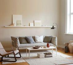 Neutral, modern sitting room scheme, image from Mi Casa Ambiente tonos marrones Jotum