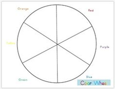 Printable Color Wheel  Mr Printables  Homeschool