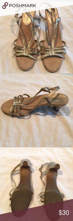 Aerosoles low heel sequin strappy shoe Like new no signs of wear super stylish shoe! 2.5 inch heel. AEROSOLES Shoes Heels