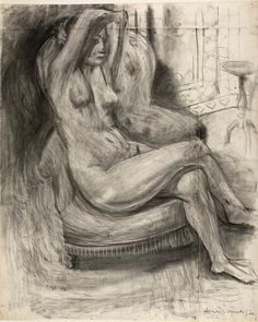 Henri Matisse French, 1869-1954, Seated Nude with Arms Raised, 1925. © 2015 Succession H. Matisse / Artists Rights Society (ARS), New York
