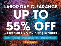 Avon Free Shipping on any $10 order! Expires: midnight 9/3/2013 - Buy Avon online and use coupon code: FSLABOR at http://eseagren.avonrepresentative.com/
