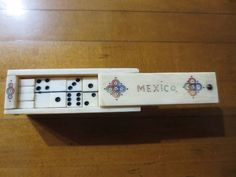 Vintage Dominoes Mini Carved Mexico Black Ivory Game Box Set by ChickieVintageLove on Etsy