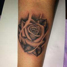 Rose tattoo, black and grey tattoo, junior Garcia tattoo Palmdale ca, Lancaster ca.