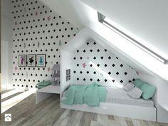 Attic Bedroom Designs, Attic Rooms, Little Boy Bedroom Ideas, Girls Bedroom, Ideas Dormitorios, Teenage Room, New Beds, Diy Bed, Kid Spaces