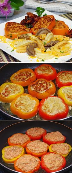 Moist and Delicious Chicken patties in Pepper rings!