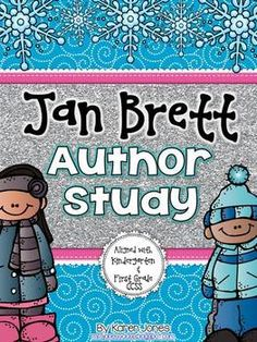 Jan Brett Author Study for the primary classroom! Lots of great materials to learn about one of my favorite winter authors Kindergarten Curriculum Map, Curriculum Mapping, Kindergarten Reading, Kindergarten Activities, Teaching Reading, Book Activities, Teaching Ideas, Guided Reading, Kindergarten Christmas