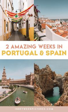 Southern Spain and Portugal Itinerary 14 days exploring the Iberian Peninsula that doesn't require hopping on and off planes and includes smaller towns! The Best 14 Days Itinerary for Spain and Portugal Portugal Travel Guide, Spain Travel Guide, Portugal Trip, Lisbon Portugal, Places To Travel, Places To Go, Perfect Road Trip, Iberian Peninsula, Spain And Portugal