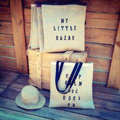 petit sac a main 21x25cm toile de jute et coton rock pour petite filles ou grandes d co. Black Bedroom Furniture Sets. Home Design Ideas