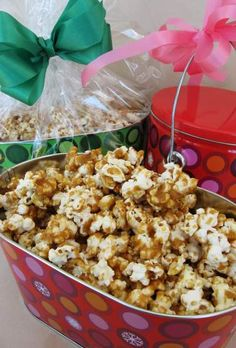 Homemade caramel corn popcorn dessert treat gift idea