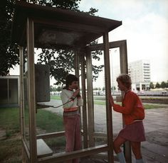 Phone booth in Potsdam (21.09.1972)