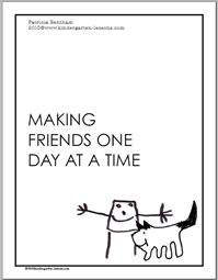 """Free download of """"Making Friends One Day at a Time"""" student book - Pinned by @PediaStaff – Please visit http://ht.ly/63sNt for all (hundreds of) our pediatric therapy pins"""