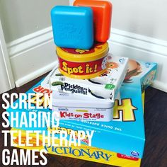 Screen Sharing Teletherapy Games