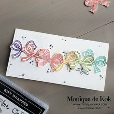 Gift Wrapping Bows, Christmas Gift Wrapping, Noel Gifts, Stampin Up Christmas, Christmas Cards, Valentine Greeting Cards, Stamping Up Cards, Card Maker, Cute Cards