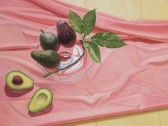 Edgar Soberon Aguacates Rosa 2010 Oil on canvas 35.5 x 47.5 in