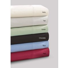 @Overstock - Treat yourself to this luxurious, king size sheet set. They come in pastel colors: ivory, tan, green, chocolate, blue, and red. This set is made of 100-percent polyester, which includes a flat sheet, a fitted sheet, and two pillow cases.http://www.overstock.com/Bedding-Bath/Premier-Comfort-Softspun-All-season-King-size-Sheet-Set/5634881/product.html?CID=214117 $44.06