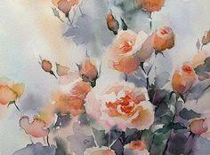 Watercolors by Maria Stezhko (Акварели Марии Стежко): Garden roses: