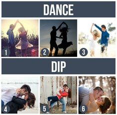 Dip/Dance Poses from 101 Tips and Ideas for Couples Photography Repin & Like. Thank you . Listen to Noel songs. Noelito Flow.