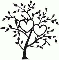 Silhouette Design Store - View Design #75141: tree of two hearts