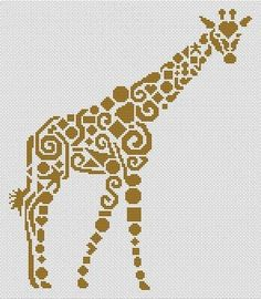 White Willow Stitching Tribal Giraffe - Cross Stitch Pattern - 123Stitch.com