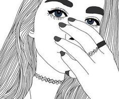 Imagem de girl, outline, and art