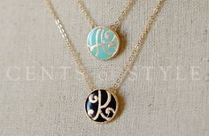 GroopDealz | Beautiful Letter Necklaces! @Amanda Gutierrez these would be adorable bridesmaid gifts