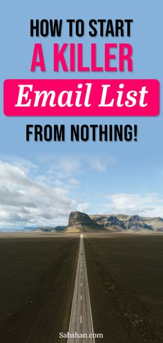 The email list is where the money is they said. So if you haven't started yours, here's a step-by-step tutorial how to start your email list for free from scratch. You'll find starting your own mailing list doesn't have to be complicated or costly. Click to find out how. #emaillists #emailmarketing #howtostartemaillist
