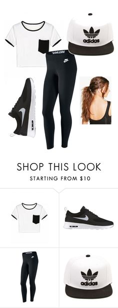 """""""I Work Out"""" by fashionvoice on Polyvore featuring NIKE, adidas and Boohoo"""