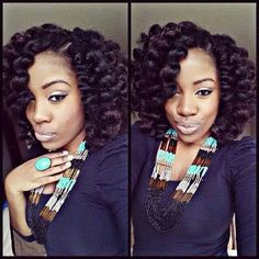 Youtube got me thinking I can do this... Crochet braids using Marley hair. Then roller set with perm rods...